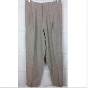 Ellen Tracy linen dress pants high waist Size 10